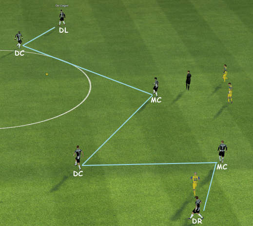 fm14 tactic, 4-4-2, build up play