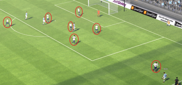 fm14 tactic, 4-5-1, defensive movement 2