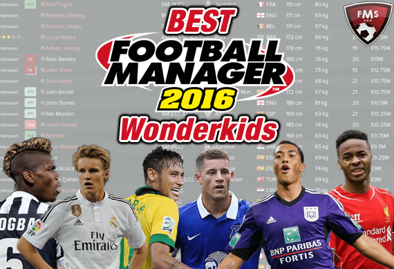 Best FM 2016 Wonderkids shortlist feature