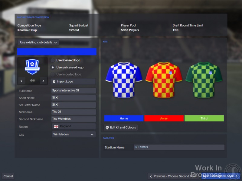FM16 - Fantasy Draft - Creating Club_2