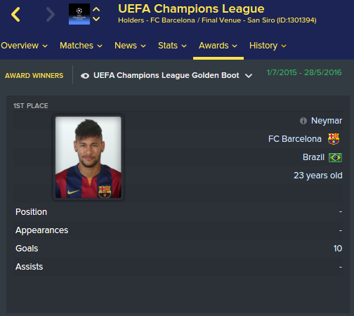 FM 2016 real names champions league