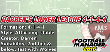 Darren's lower league 4-1-4-1