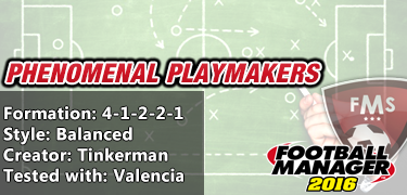 best FM 2016 tactics phenomenal playmakers