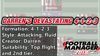 best fm 2018 tactics darrens 4-1-2-3