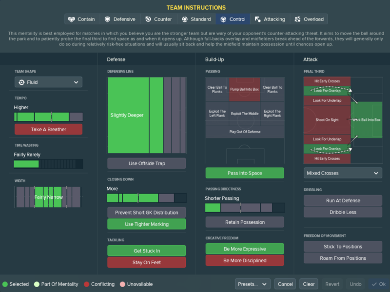 FM 2018 tactic 4 4 1 1 formation TI